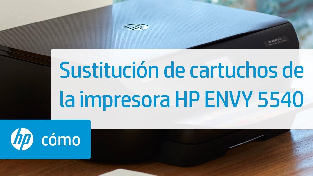 Sustitución de cartuchos de la impresora HP ENVY 5540   HP ENVY   HP
