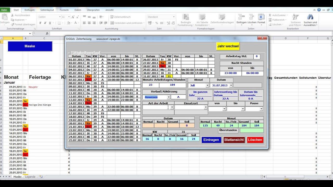 Einfaches Zeiterfassungsprogramm Gut Geeignet Fur Zeitarbeiter Excel Vba Programmierung