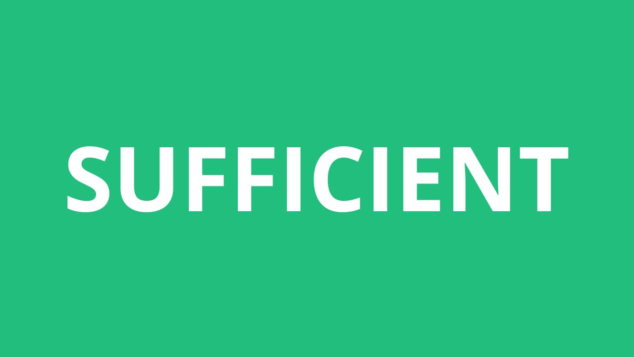 How To Pronounce Sufficient - Pronunciation Academy