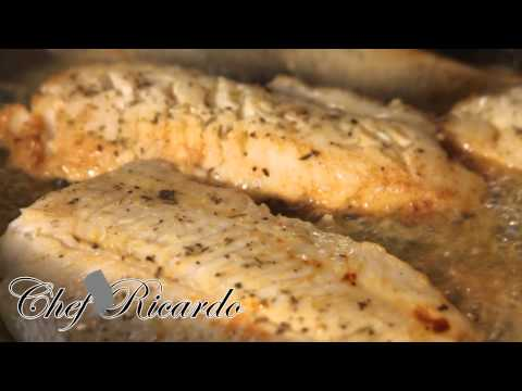 Lemon Pan Fried Fish Served With Salad | Recipes By Chef Ricardo