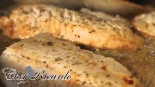 Lemon Pan Fried Fish Served With Salad