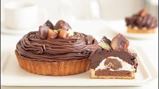 チョコレート・モンブランタルトの作り方 Chocolat Mont Blanc Tart|HidaMari Cooking