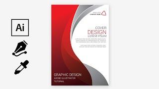 Brochure Cover |  Print Design |  Adobe Illustrator  | Tutorial #FreeDownload