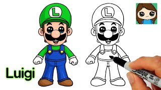 How to Draw Luigi | Super Mario