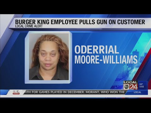 DJ Fountz - Female Burger King Employee Pulls Gun on Customer Over Order Complaint