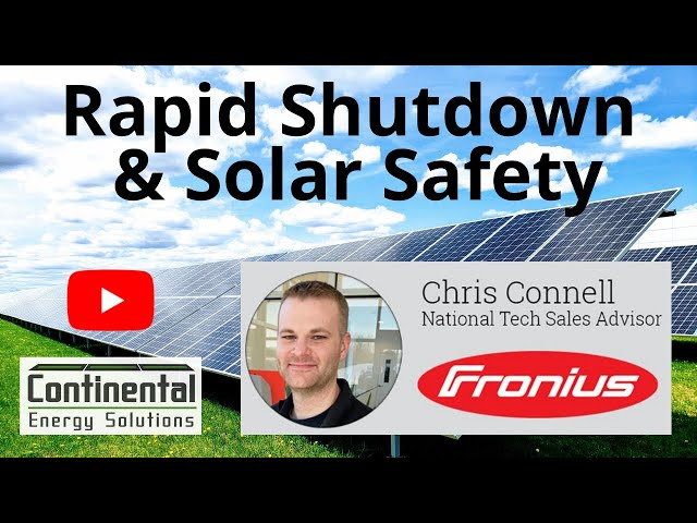 Chris Connell, Fronius - Solar Safety and Rapid Shutdow | Solar Podcast with Tim Montague