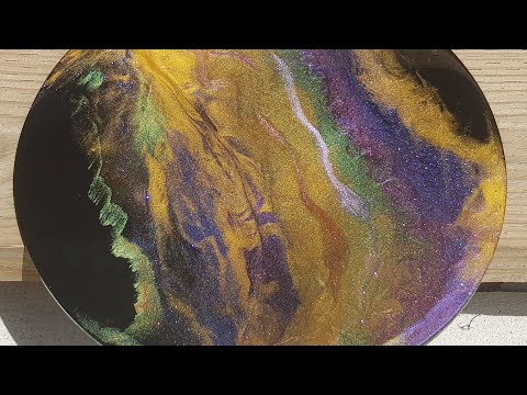 Resin art/ testing new color changeable powder pigments/ demo