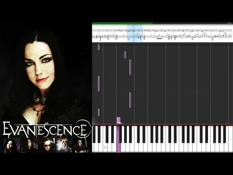 Evanescence - Lithium / Piano Tutorial Piano Cover - Sheet Music