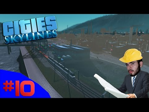 O MILAGRE DOS TRENS DE CARGA!!! - Cities Skylines (Industries) #10 - (Gameplay/PT-BR)