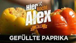 Hier kocht Alex - vegane gefüllte Paprika / PETA
