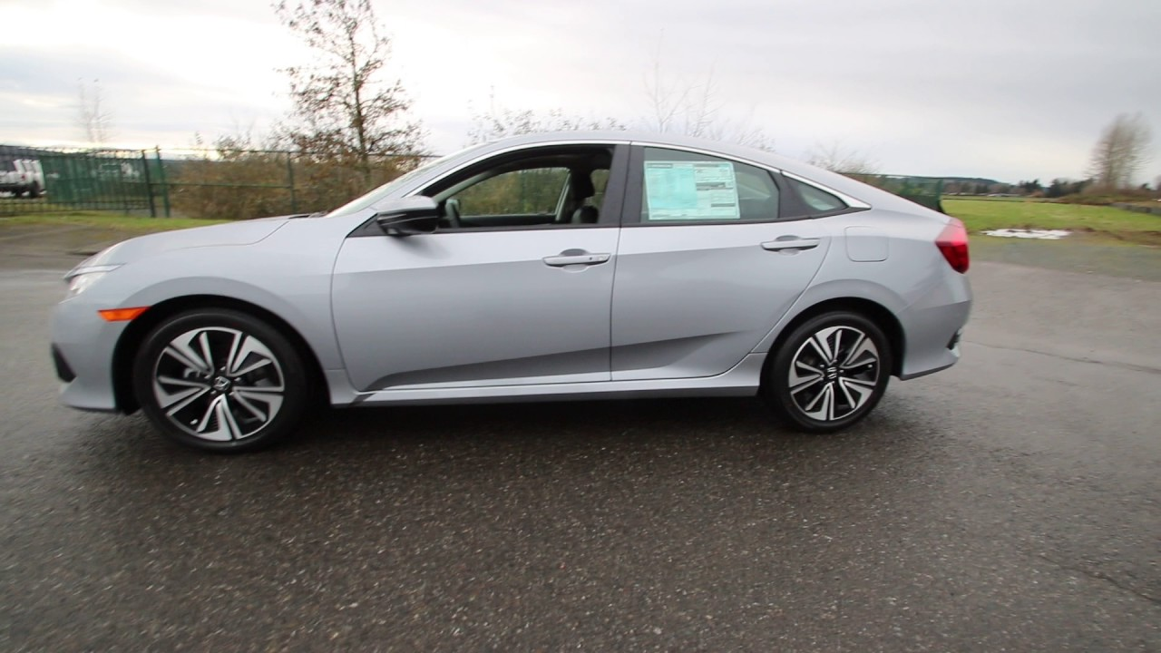 2017 Honda Civic Ex L Lunar Silver Hh633892 Seattle Sumner