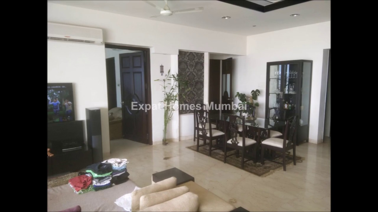 Sea View, 4 BHK, Fully Furnished Apartment On Rent At Carter Road, Bandra  West, Mumbai