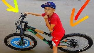 DIY Turbo Max  на новом велике! Родители подарили новый скоростной велосипед.