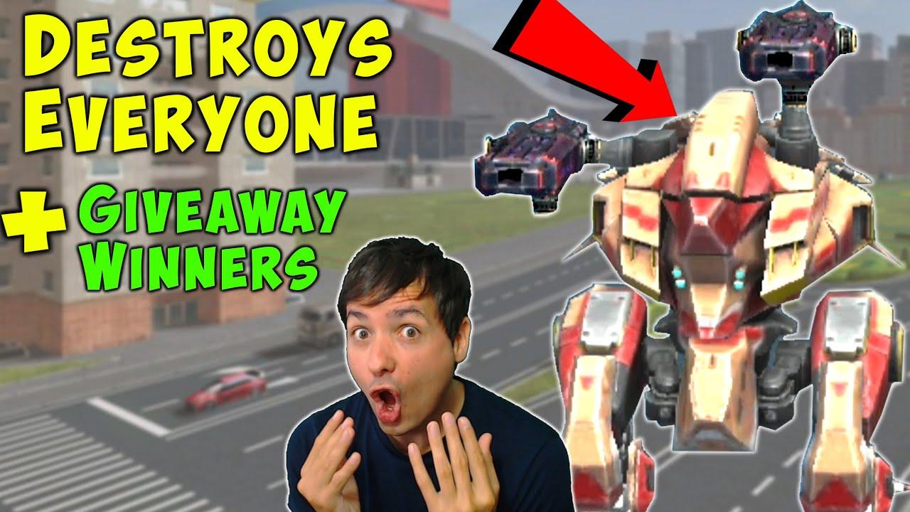 My Little Kumiho Destroys EVERYONE + Giveaway Winners - War Robots WR