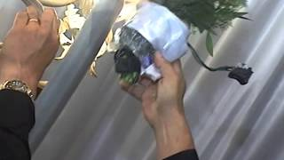 WORLDS FIRST BOUQUET CAM - Bouquet caught in Chandelier