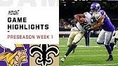 Vikings vs. Saints Preseason Week 1 HighlightsNFL 2019