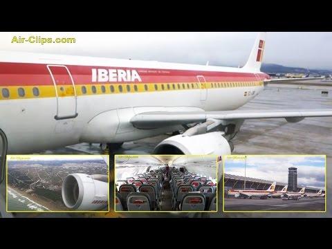Iberia Airbus A321 Barcelona El Prat to Madrid Barajas Airport [AirClips full flight series]
