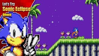 The BEST level art in an 8-bit game? Let's Try Sonic Eclipse Demo
