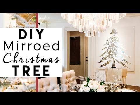 DIY Broken Mirror Christmas Tree | 1st Day of 25 Days of Christmas!