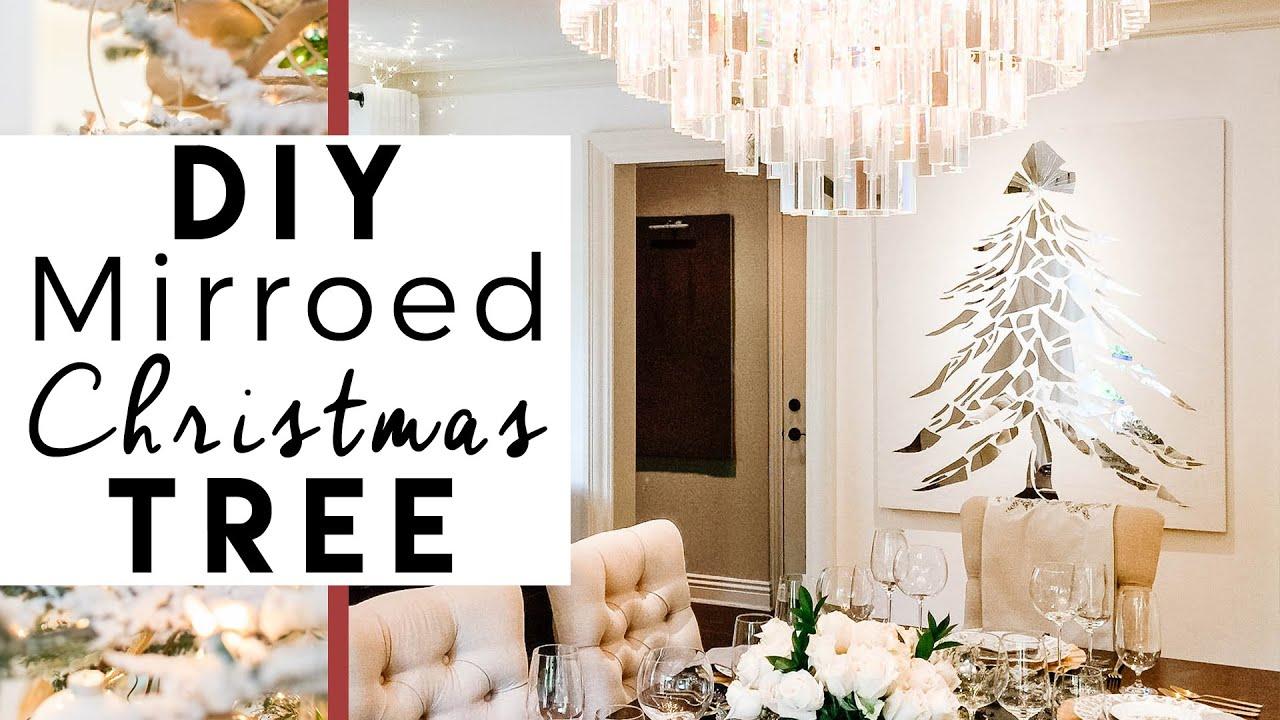 DIY Broken Mirror Christmas Tree | 1st Day of 25 Days of Christmas ...