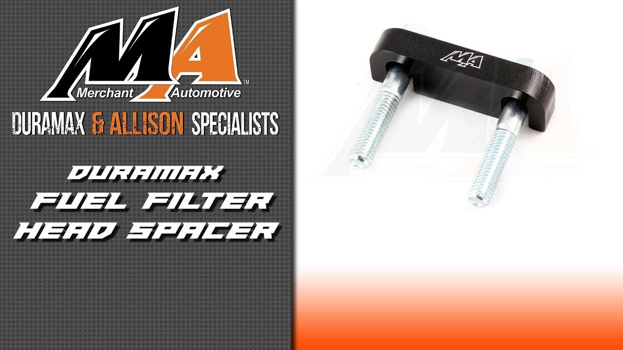 medium resolution of product spotlight duramax fuel filter head spacer