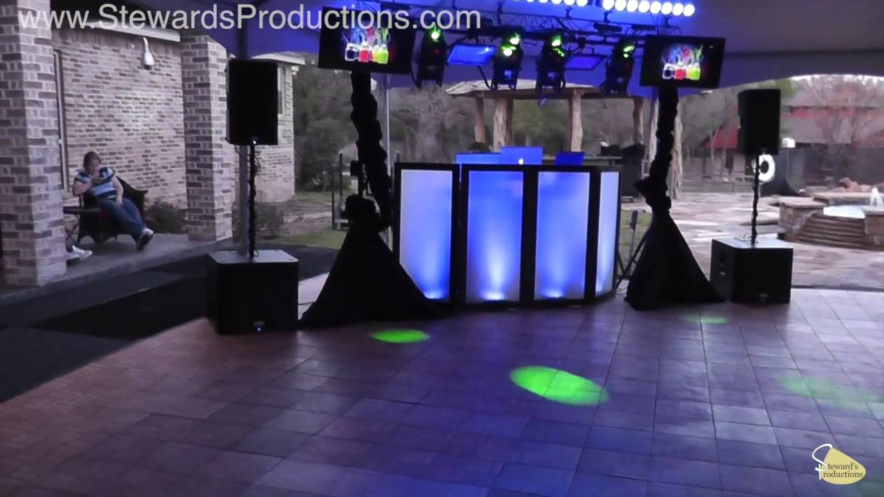 Fort Worth DJ Gig Log Sweet 16 Backyard Party