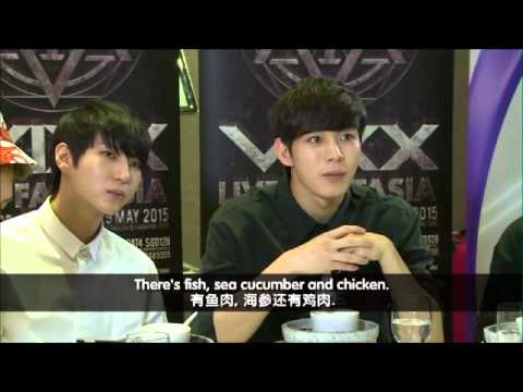 VIXX In Singapore (Food Tasting @ Tim Palace)