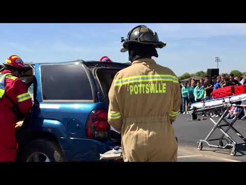 Video: Pope County EMS presents Prom Crash Scenario at Pottsville High School