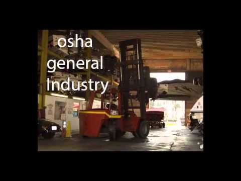 Osha general industry and Forklift Training Classes