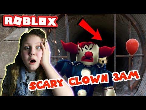 HIDING FROM CREEPY CLOWN AT 3AM!! OMG!! Roblox Clown Killing Part 2 - Ruby Rube