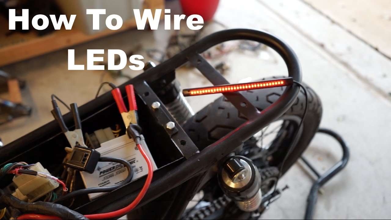 How To Wire Motorcycle Led Lights Youtube 4 Trailer Connector Diagram Brake Lamp