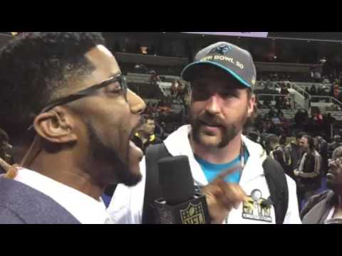 Nate Burleson Interviews Jared Allen Of Panthers #SB50