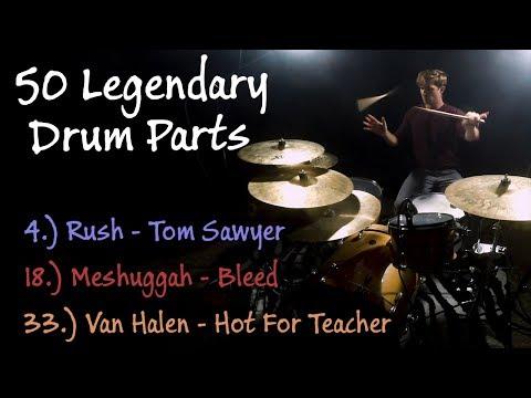 50 Legendary Drum Parts