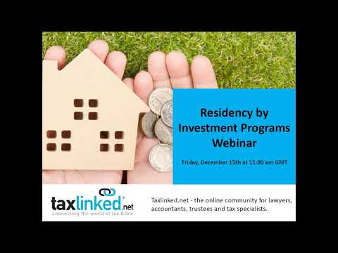 An Overview of Residency by Investment Programs