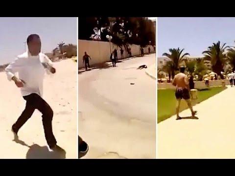 Amateur video footage of Tunisia attacks 26 June 2015