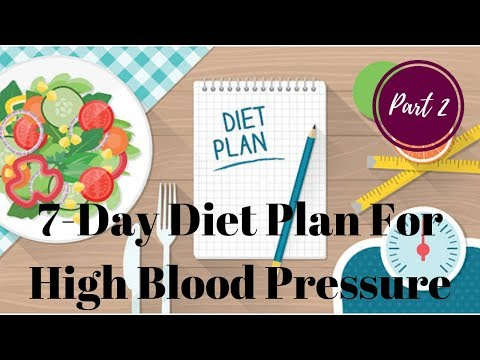 blood pressure diet 7 day meal plan