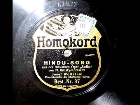 Josef Wolfsthal spielt: Hindu-Song (Rimsky-Korsakov) 1922