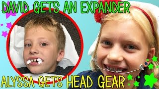 Alyssa Gets Neck Gear & David Gets an Expander for Braces