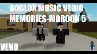 MEMORIES - MAROON 5 l  ROBLOX MUSIC VEDIO