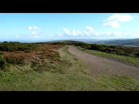 360 degree video from Selworthy Beacon on the South West Coastal Path near Minehead Somerset
