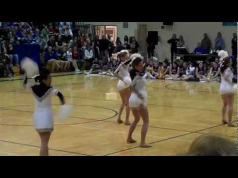 Mullen High School Varsity Poms League Competition 2012