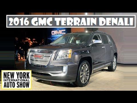 2016 GMC Terrain Denali, live at 2015 New York Auto Show - YouTube