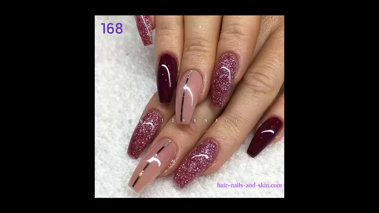 Burgundy Nail Ideas - Burgundy Nails, Maroon or Burgundy Nail Polish, Maroon Nails
