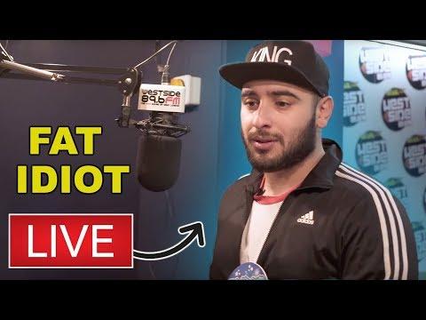 Fat Idiot Swears Live On Radio Show
