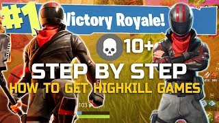 How to Get High Kill Solo Wins! Fortnite Tips and Tricks