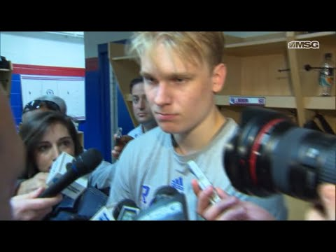 Kaapo Kakko Skates In a Rangers Jersey for the First Time