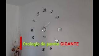 Orologio da parete gigante con numeri adesivi orologio da muro