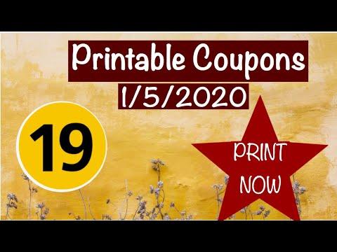 Printable Coupons!! 19 to Print NOW 1/5/20