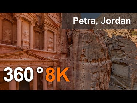 ancient-city-of-petra,-jordan.-aerial-360-video-in-8k.-virtual-travel