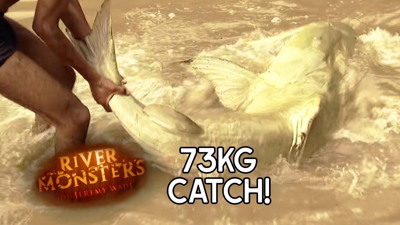 mansized goonch catfish river monsters youtube